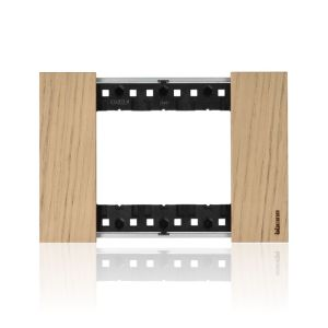 Placca 3 moduli, rovere, serie Living Now -  KA4803LM
