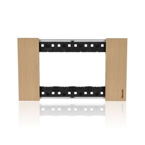 Placca 4 moduli, rovere, serie Living Now -  KA4804LM